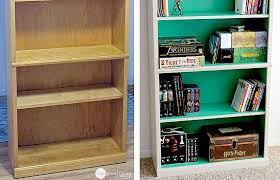 laminate furniture makeover. Ideas Collection Giving Old Laminate Furniture A Whole New Look One Good Thing On Bookcase Makeover