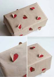 diy wrapping paper and accents