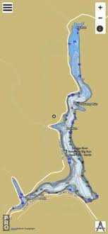 Quemahoning Reservoir Depth Chart Savage River Reservoir Fishing Map Us_aa_md_00587227