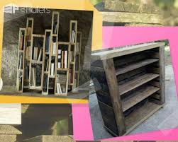 recycle old pallets into unique bookcases for any room of the house