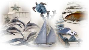 >wall art adorable pictures coastal metal wall art tropical wall art   oil painting blue dolphin fish turtle star fish ship trees canvas coral wood adorable pictures sea