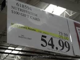 costco nutrisystem gift card photo 1