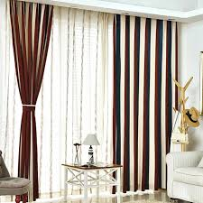 brown curtains for bedroom. Brilliant Brown Brown White And Navy Blue Striped Jacuard Chenille Thermal Contemporary Curtains  For Bedroom Or Living Room For Brown B