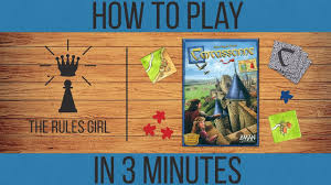How To Play Carcassonne In 3 Minutes The Rules Girl Youtube