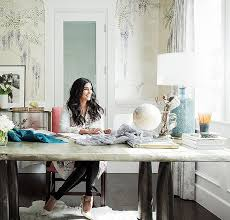 home office style ideas. Tour Fashion Designer Rachel Roy\u0027s Elegant Home Office With Hand-painted De  Gournay Wallpaper, Style Ideas P