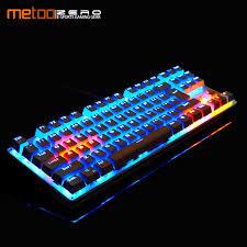 <b>Metoo</b> Original gaming <b>Mechanical Keyboard</b> 87/104 key Anti ...
