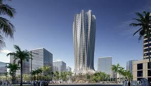 Panama City Marina Civic Center Seating Chart Zaha Hadid Designs Geometric Flower Shaped Tower For