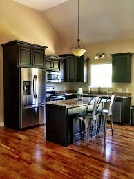 astonishing decoration dark kitchen cabinets with dark wood floors pictures should kitchen cabinets match the hardwood
