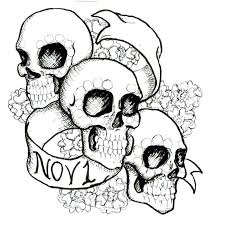pictures of skulls to color. Plain Skulls Day  With Pictures Of Skulls To Color L