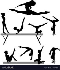vault gymnastics silhouette. Female Gymnast Silhouettes Vector Image Vault Gymnastics Silhouette