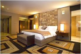 Interior Stone Wall Textures Ideas For Bedroom With Decorative Table Lamp  Has Two Interesting