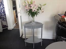 corner tables for hallway. Shab Chic French Grey Corner Table Telephone Hallway Innovative Hall Tables For