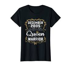 Amazoncom Queens Are Born In December 2005 T Shirt 13th Birthday