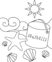 Small Picture Printable Summer Coloring Pages Beach bucket Buckets and Beach