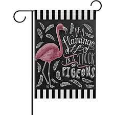 flamingo garden flags. Exellent Garden ALAZA Spring Summer Bird Flamingos Garden Flag Doublesided Yard Be A And Flamingo Flags E