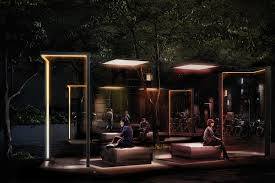 french lighting designers. narboni designed extimity with french lighting company technilum it is a modular system that addresses designers w