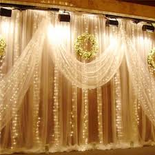 home lighting decoration. 3m X 300 Led Warm White 8 Lighting Modes Curtain Fairy String Lights For Festival Wedding Party Home Indoor Outside Garden Patio Window Decorations Decoration