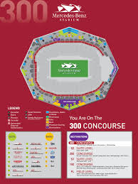 Mercedes Benz Stadium Seating Chart Print Mercedes Benz Stadium