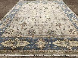 9x12 hand knotted oushak rug new persian wool rugs oriental turkish ushak carpet
