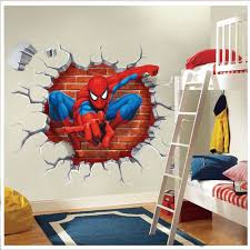 Superhero Bedroom Decorations Super Hero Spider Man Wall Sticker Decals Kids Baby Nursery Room