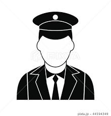 Train Conductor Black Simple Iconのイラスト素材 44594349 Pixta