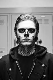 skull makeup american horror story zombie boy