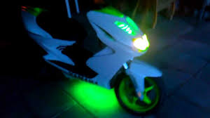 Yamaha Aerox Led Lights Yamaha Aerox With Green Led Neon
