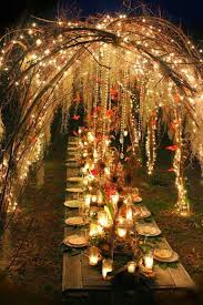 Diy outdoor wedding lighting Barbecue 50 Unique Rustic Fall Wedding Ideas Branch Arch Twinkle Lights Outdoor Wedding Temple Square 56 Unique Rustic Fall Wedding Ideas Temple Square