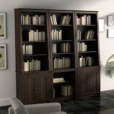 office bookcases with doors. Prepac Tall Slant-Back Bookcase - Espresso With 2 Shaker Doors Bookcases At Hayneedle Office C