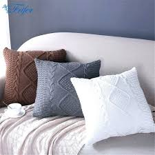 soft throw pillows. Perfect Throw Bedroom Throw Pillows Knitted Wool Cushion Cover  Super Soft Pillow Solid Sofa In Soft Throw Pillows S