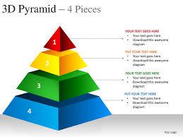 Ppt Pyramid 3d Pyramid 4 Pieces Powerpoint Presentation Templates