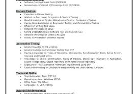 Manual Testing Resume Sample Awesome Qtp Resume Contract Quality