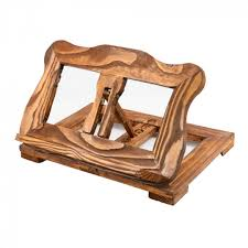 reading rest wooden book stand recipe holder kitchen cookbook rustic 39 x 26 x 9 5 cm by unknown for kitchen in australia