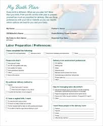 What Should A Birth Plan Look Like Birth Plan Sheet Fonder Fontanacountryinn Com