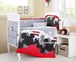 red and white mickey mouse crib bedding cotton bedding