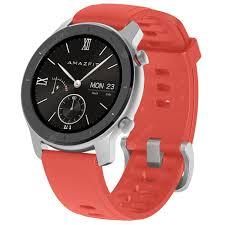 <b>AMAZFIT GTR</b> Red <b>42mm</b> Aluminum Alloy Case <b>Smart</b> Watches ...