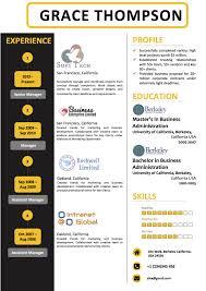 Modern Resume Color Modern Black And Yellow Color Three Column Resume Vista Resume