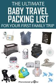 Baby Stuff Checklist Baby Travel Packing List Items To Pack For Babys First Trip