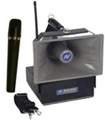 sound system wireless: amplivox swa wireless handheld half mile hailer pa system