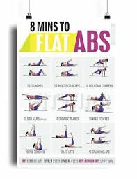 Six Pack Abs Workout Chart Details About 8 Minute Abs Workout Poster For Six Pack Abs Training Core Exercises Abdominal