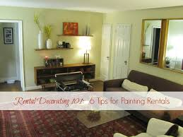 Decorating One Bedroom Apartment Delectable Rental Decorating 48 48 Tips For Painting Rentals The Borrowed