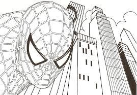 Coloriage A Imprimer Spiderman Portrait Gratuit Et Colorier