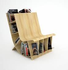 unusual furniture designs. Simple Modern Creative Furniture Unique Wooden Chair With Bookcase Unusual Bookshelves Oak Wood Material Home Designs E