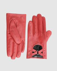 abbacino women s red leather gloves with micro perforations abbacino fashion el corte inglés