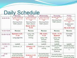 Daily Routine Chart For 9 Year Old Agenda Welcome And Introduction Daily Schedule Academic