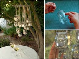 garden art projects. I Searched For Some Ideas And Then Found It: Hanger Lights The Garden. It Very Easy To Do. All You Need Are Jars, Strings, Candles Or An Old Garden Art Projects