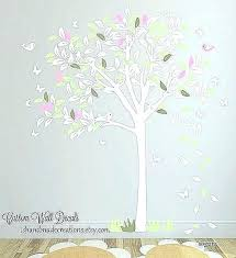white tree wall decal white tree wall l for nursery ls girls inspirational baby room stickers