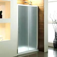 glass bathroom doors remove sliding frosted tub shower