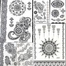 индийский бог тотем хна менди временная татуировка пейсли цветок