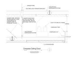 drop ceiling detail usg design studio drywall suspension system
